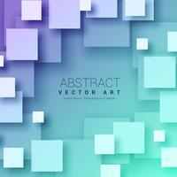 Fond de carrés abstraits 3D de couleur bleue