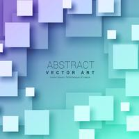 3d abstract squares background in blue color