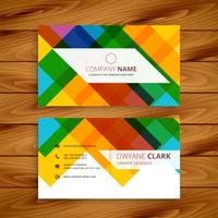 colorful business card design template vector design illustratio