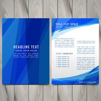 blue abstract brochure flyer design illustration