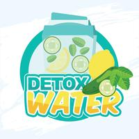 Desintoxicación agua vector