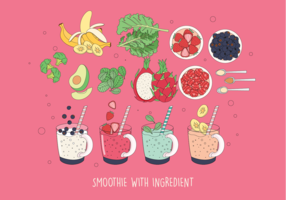 Smoothie and Ingredient Vector Vol 2