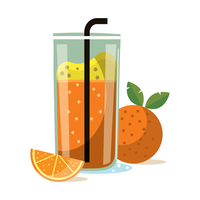 Orange Smoothie vector