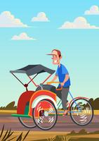 Riding Trishaw