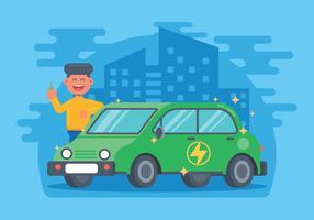 Vector de coche electrico