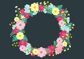 Vector Floral Spring Wreath