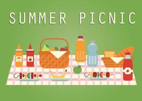 Vector de picnic de verano