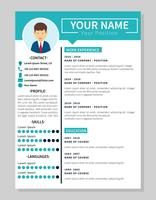 Minimalis Corporate Resume Template Illustration