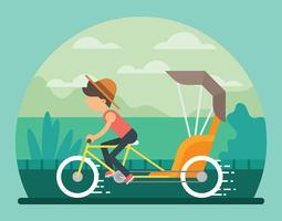 trishaw illustration