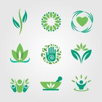 Green and Healing Logo Vector