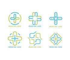 Vectores icónicos de logotipos de curación