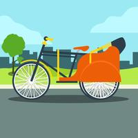 Trishaw per la strada