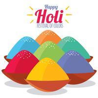 Färgglada Happy Holi Festival Vector