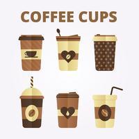 Tazas de cafe vector