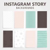 Instagram histoire arrière-plans vecteur