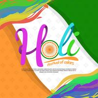 Holi Festival Of Colors Typography Vector Illustration