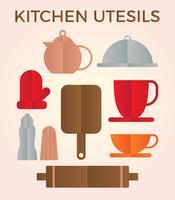 Vetor de utensílios de cozinha