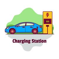 Charging Station Illustration