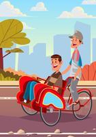 triciclo vector