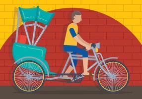 Vector de trishaw