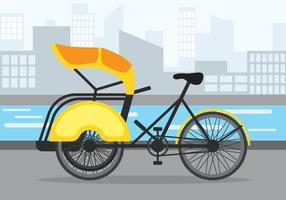 Trishaw Vector Illustration