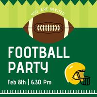 Football Party Vector Invitation