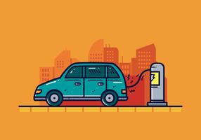 Vector de coche eléctrico