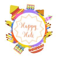 Flat Holi Festival Vector