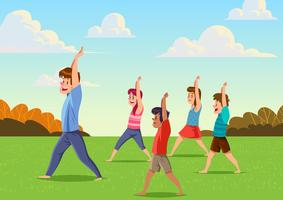 Outdoor-Kid Yoga-Klasse