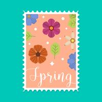 Flat Springtime Postage Vector