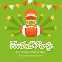 Football Party Poster Template Vector
