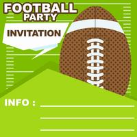 Invitation de fête de football