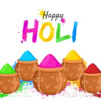 Happy Holi Colorful Background