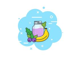 Smoothie + Ingredients Background Illustrations