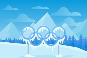 Vecteurs emblématiques des Jeux olympiques d'hiver