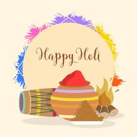 Plat Holi festival Inde vecteur