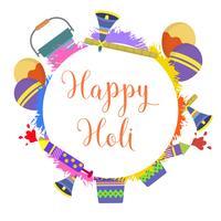 Vector de festival de Holi plana