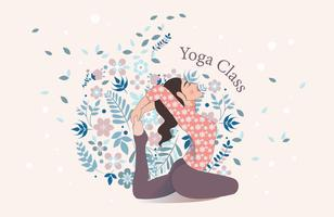 Yoga klass Vector