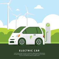 Vector de carro elétrico