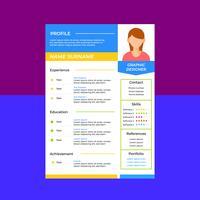 CV propre de concepteur graphique