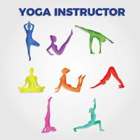Watercolor Yoga Instructor Vector