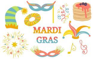 Vetores do festival Mardi Gras