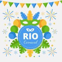 Vector brasileño de Rio De Janiero Carnaval