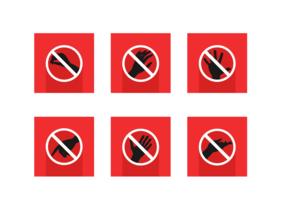 Raak Free Vector Pack niet aan