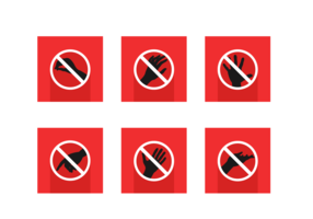 Do Not Touch Free Vector Pack
