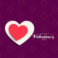 Hintergrund der Valentinstagfeier mit rotem und weißem hea