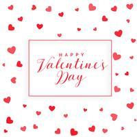 valentins dag bakgrund med utspridda hjärtan