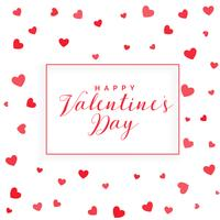 valentine's day background with scattered hearts