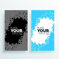 abstract watercolor splash banners set