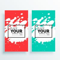 watercolor splash banners set abstract